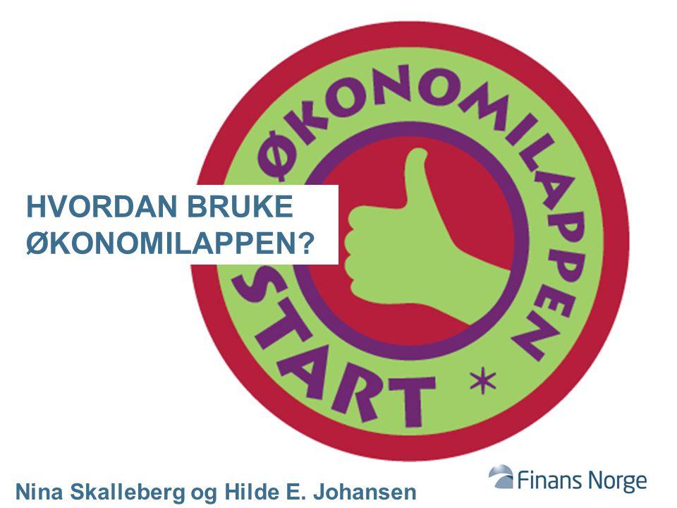 HVORDAN BRUKE ØKONOMILAPPEN? Nina Skalleberg og Hilde E. Johansen