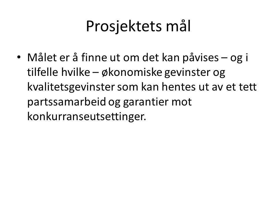 Ingen transaksjonskostnader Kostnad per kontraktsinngåelse: 110000-165000 (Rambøll) Besparingspotensiale på 4 % av kontraktsvolumet (Rambøll) Hver enkelt kontrakt være på minst 3 - 4 mill kr.