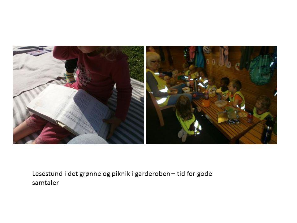 Lesestund i det grønne og piknik i garderoben – tid for gode samtaler
