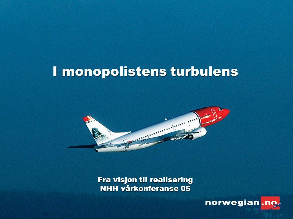 Alle folk i Norge skal ha råd til å fly Vår Visjon : Gjennom effektiv drift og lave priser gi folk som bor i Norge muligheten til å reise med fly.