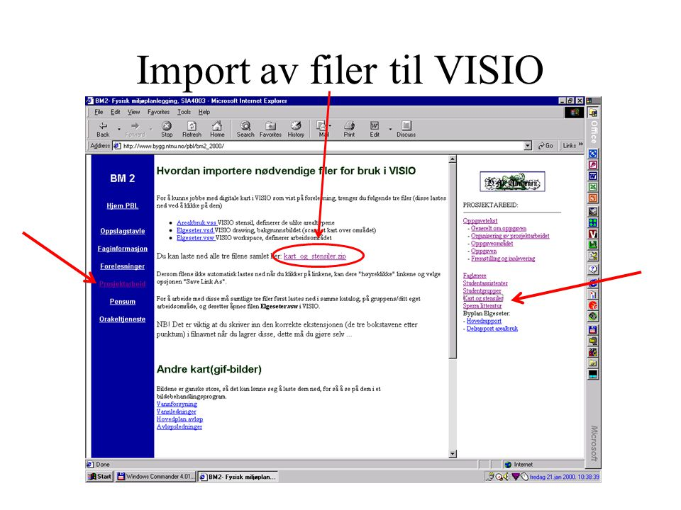 Import av filer til VISIO