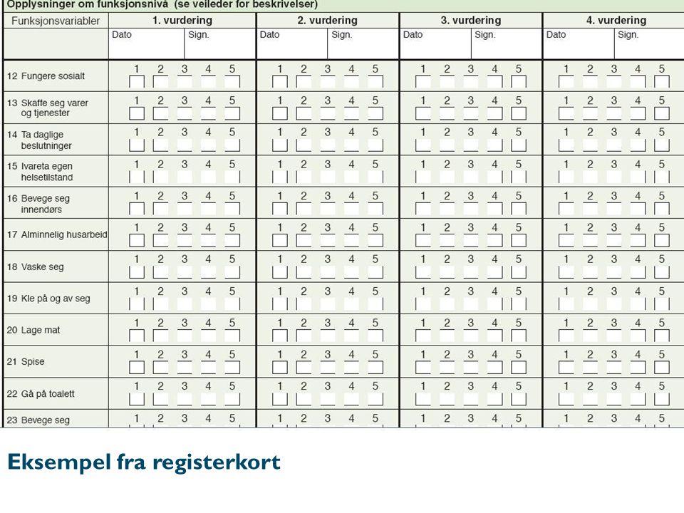 Eksempel fra registerkort