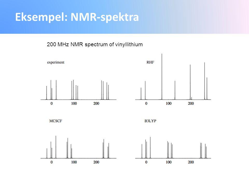 Eksempel: NMR-spektra 200 MHz NMR spectrum of vinyllithium