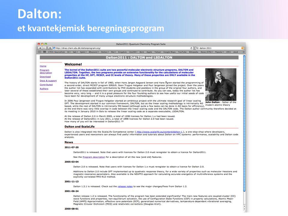 Dalton: et kvantekjemisk beregningsprogram