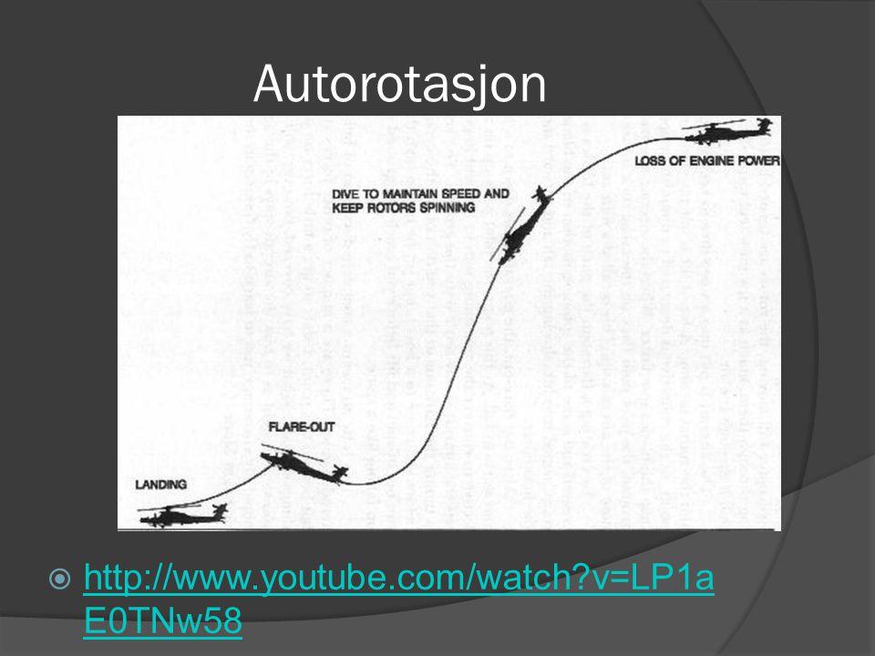 Autorotasjon  http://www.youtube.com/watch?v=LP1a E0TNw58 http://www.youtube.com/watch?v=LP1a E0TNw58