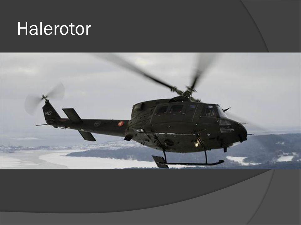 """Halerotor  Flere måter å motvirke dreiemoment:  Halerotor bilder  Twin Rotor  Luftstrøm (NOTAR)  """"Propellfly"""""""