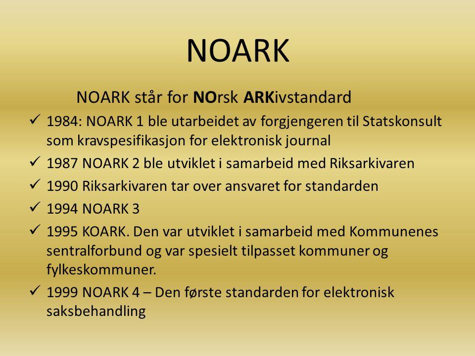 Arkivfaglige problemer Egne (ofte udokumenterte) ordningsprinsipper på fellesområder Sakarkivsystemene er i stor grad sminkede NOARK 4-systemer Sett mange uttrekk i det siste.