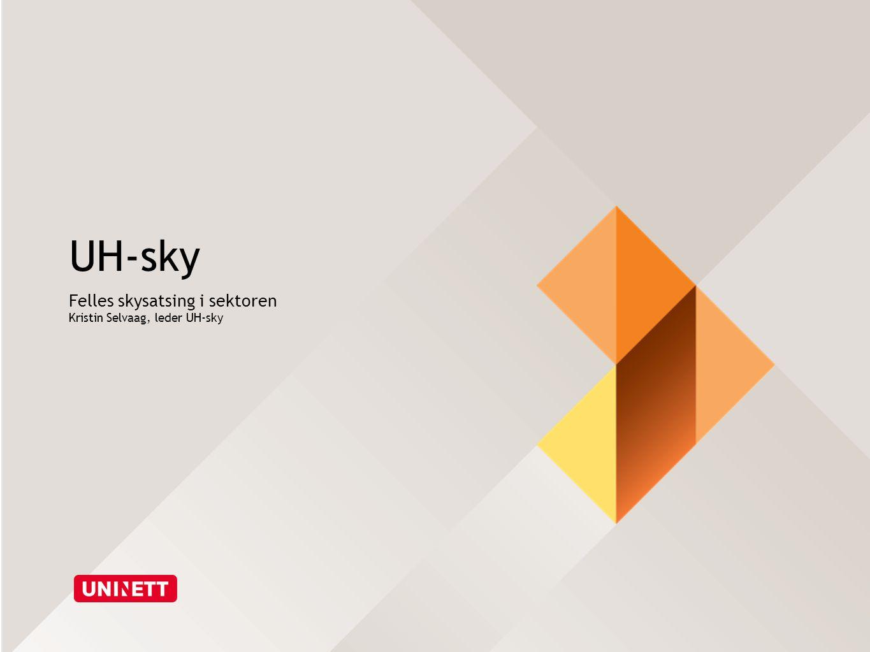 UH-sky Felles skysatsing i sektoren Kristin Selvaag, leder UH-sky