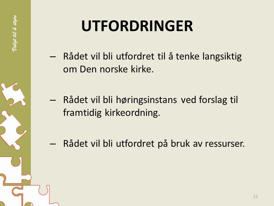 UTFORDRINGER – Rådet vil bli utfordret til å tenke langsiktig om Den norske kirke.