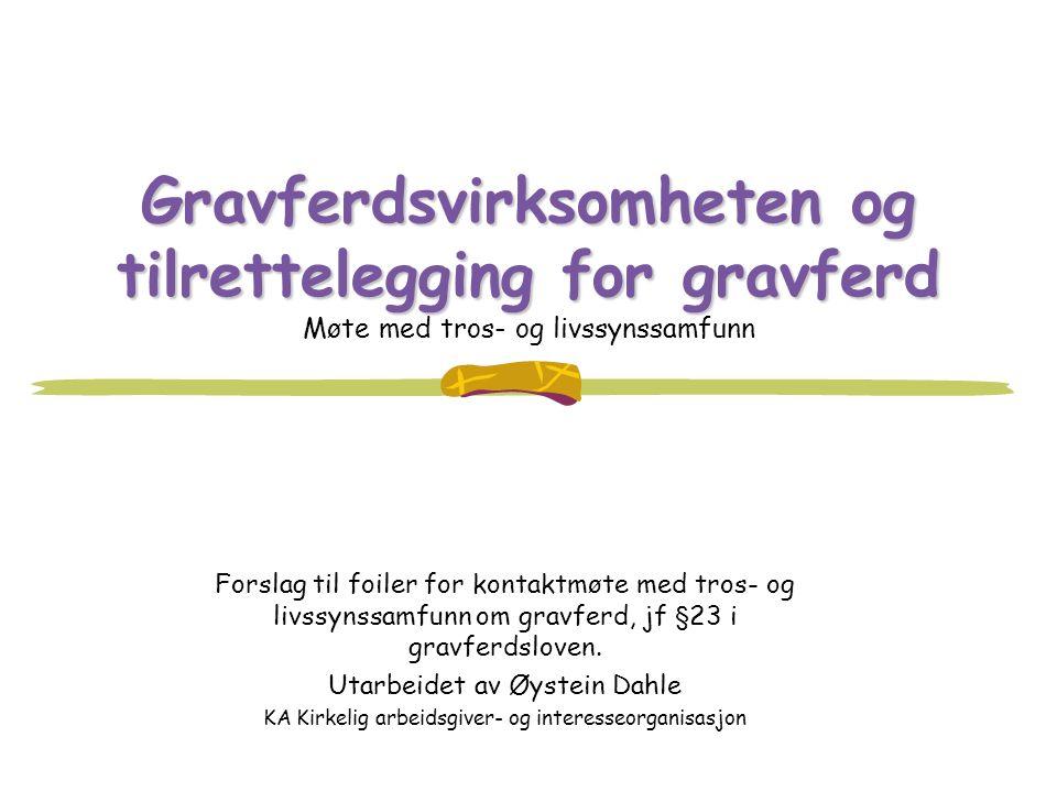 Gravferdsvirksomheten og tilrettelegging for gravferd Gravferdsvirksomheten og tilrettelegging for gravferd Møte med tros- og livssynssamfunn Forslag