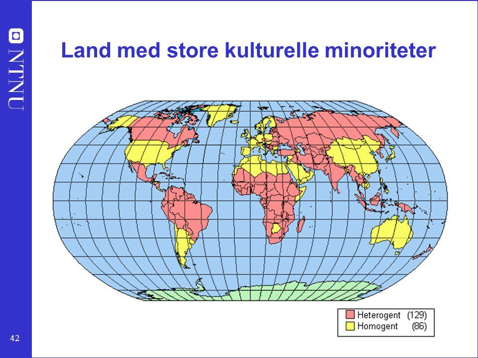42 Land med store kulturelle minoriteter
