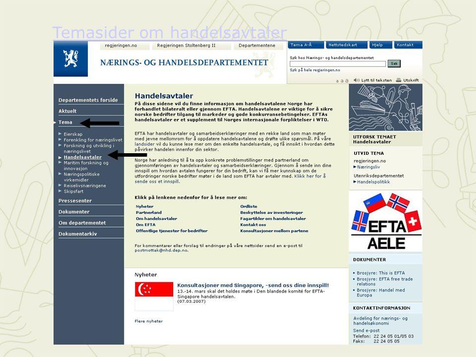 Temasider om handelsavtaler