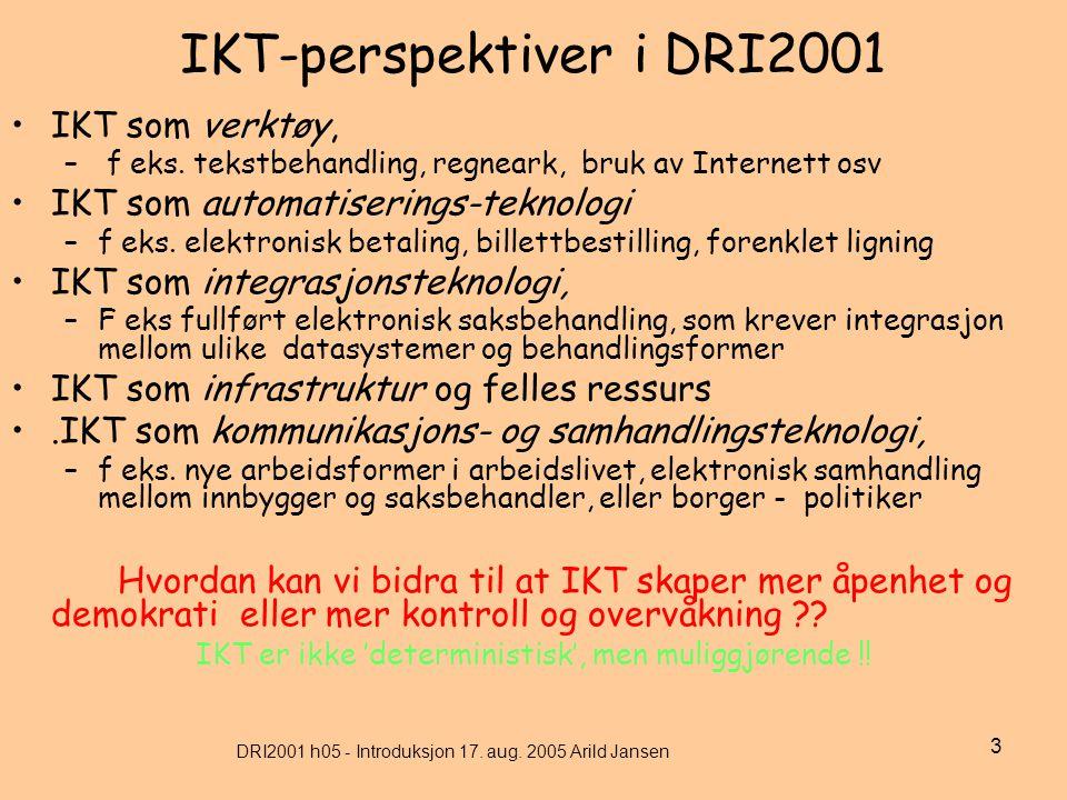 DRI2001 h05 - Introduksjon 17.aug.