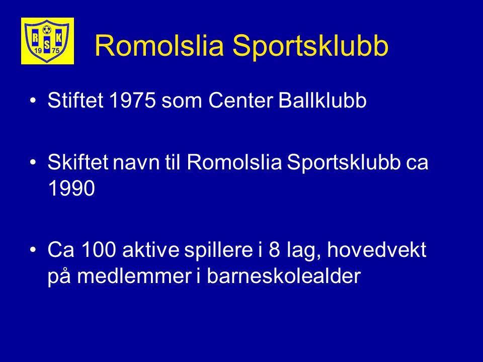Stiftet 1975 som Center Ballklubb Skiftet navn til Romolslia Sportsklubb ca 1990 Ca 100 aktive spillere i 8 lag, hovedvekt på medlemmer i barneskolealder