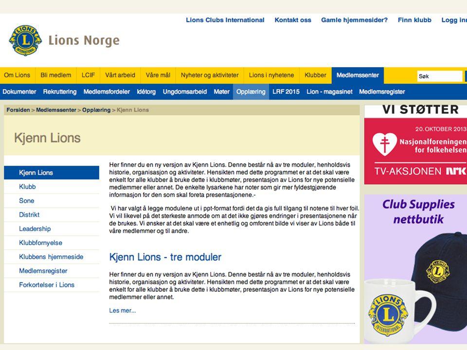 Til tjeneste Lions Norge www.lions.no Til tjeneste Lions Norge www.lions.no 30.03.14 11
