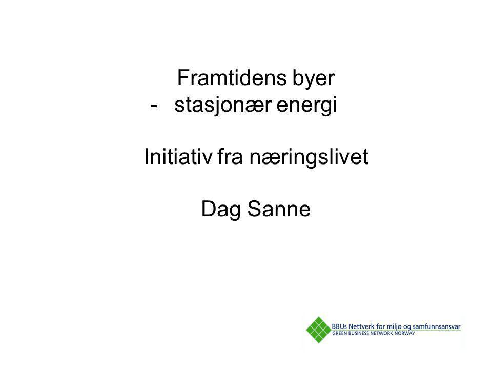 Framtidens byer -stasjonær energi Initiativ fra næringslivet Dag Sanne