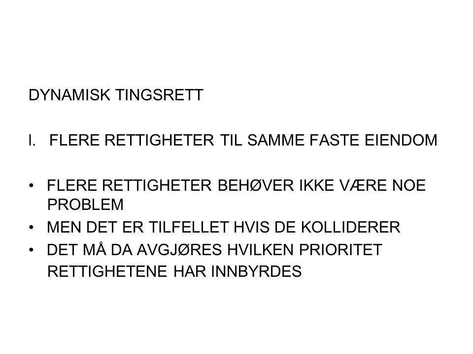 DYNAMISK TINGSRETT l.