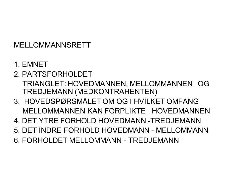 MELLOMMANNSRETT 1.EMNET 2.