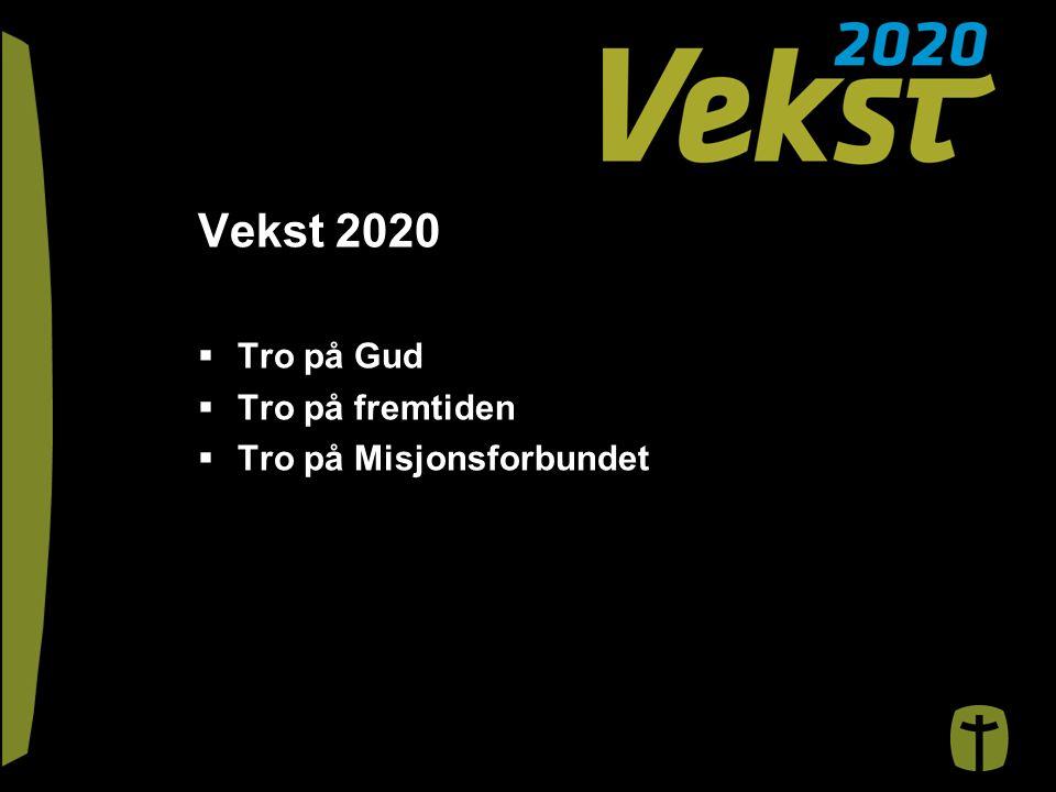Vekst 2020  Tro på Gud  Tro på fremtiden  Tro på Misjonsforbundet