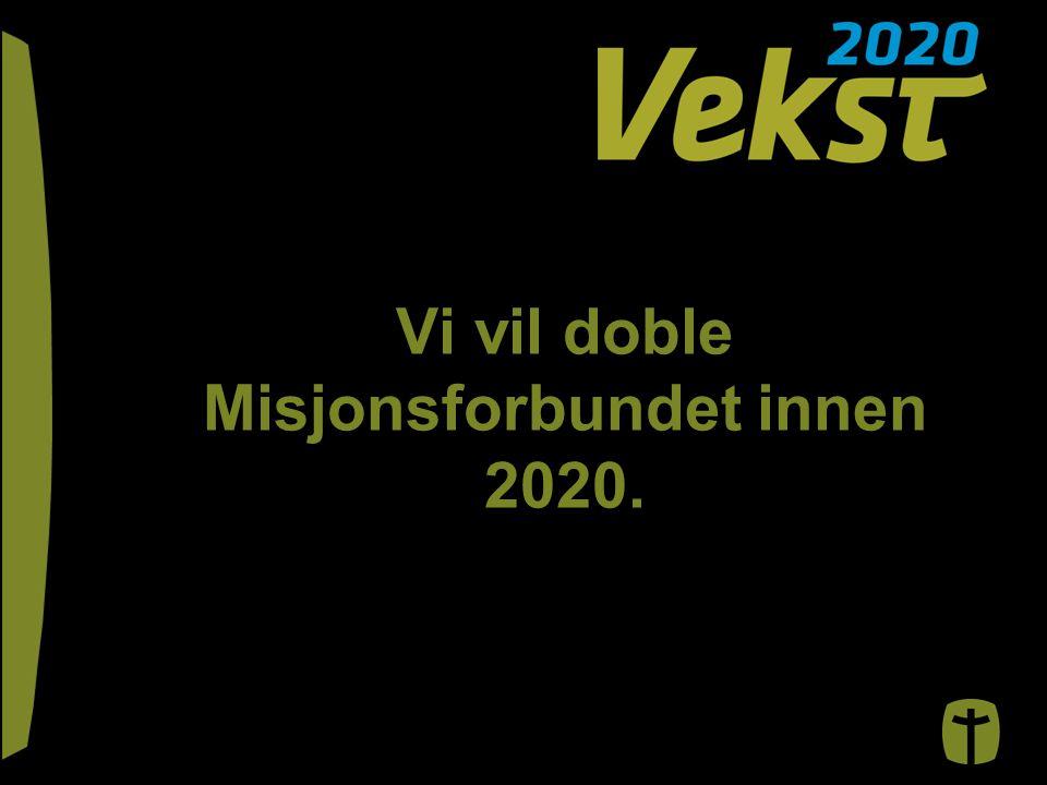 Vi vil doble Misjonsforbundet innen 2020.