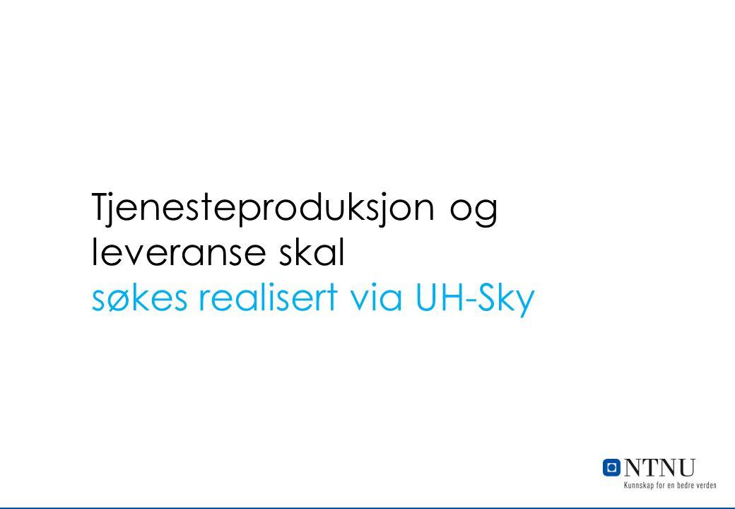 Tjenesteproduksjon og leveranse skal søkes realisert via UH-Sky