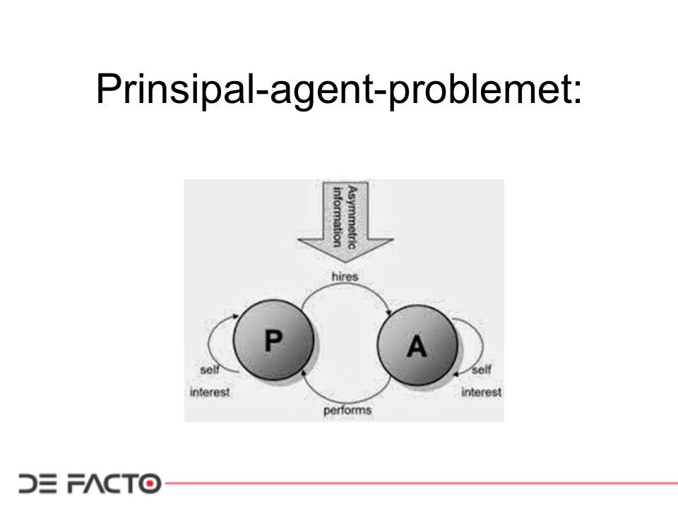 Prinsipal-agent-problemet: