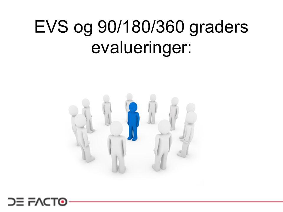 EVS og 90/180/360 graders evalueringer: