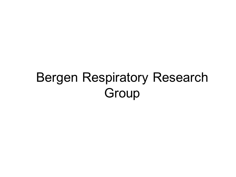 Bergen Respiratory Research Group