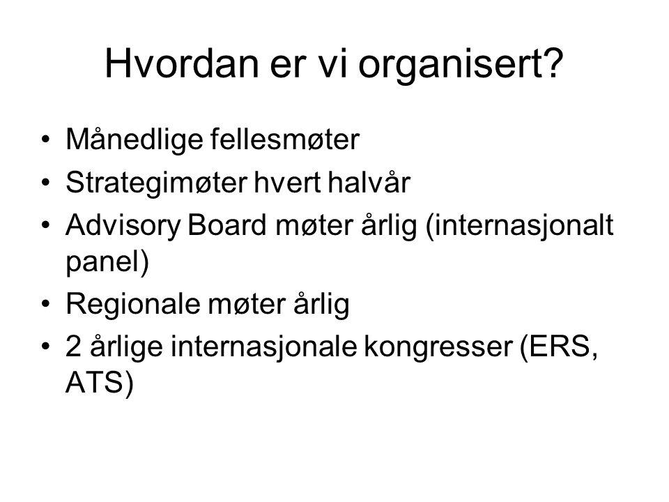 Hvordan er vi organisert? Månedlige fellesmøter Strategimøter hvert halvår Advisory Board møter årlig (internasjonalt panel) Regionale møter årlig 2 å