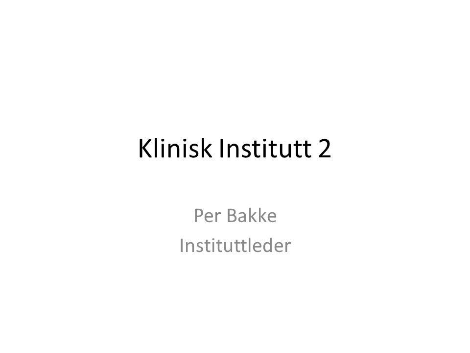 Klinisk Institutt 2 Per Bakke Instituttleder