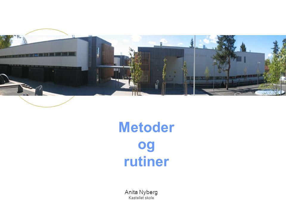 Anita Nyberg Kastellet skole Metoder og rutiner
