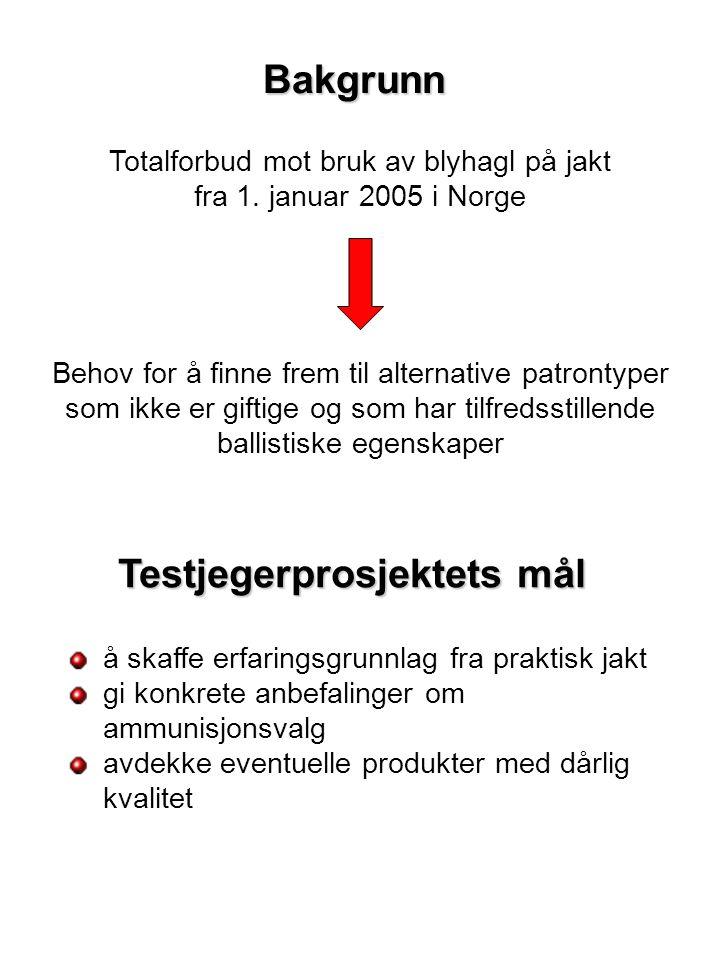 Bakgrunn Totalforbud mot bruk av blyhagl på jakt fra 1.