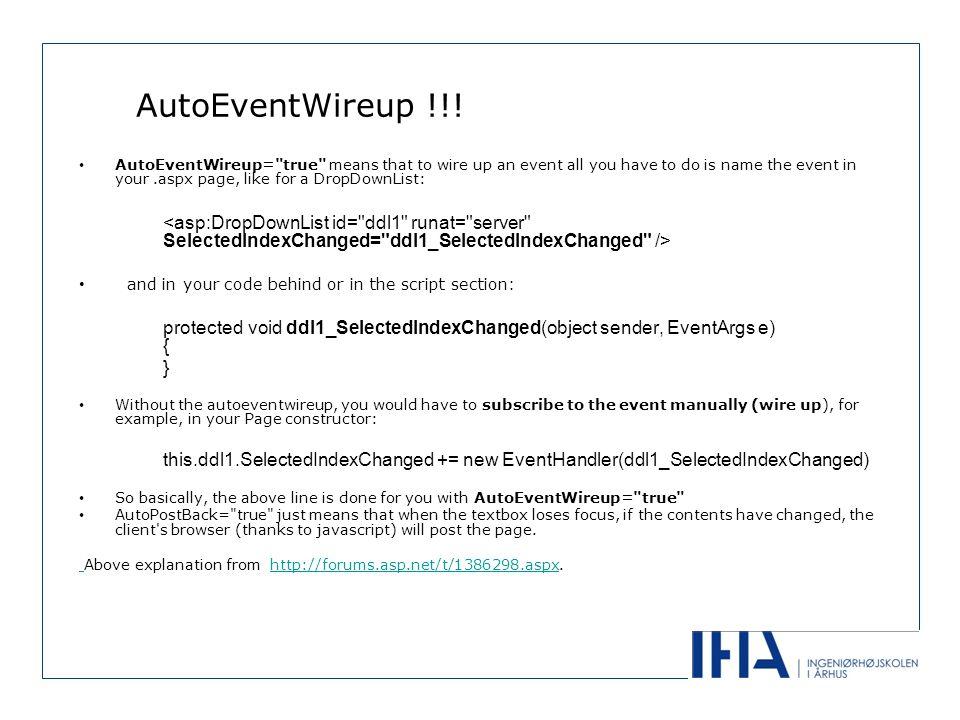 AutoEventWireup !!.