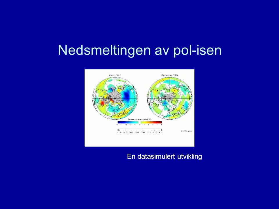 Nedsmeltingen av pol-isen En datasimulert utvikling