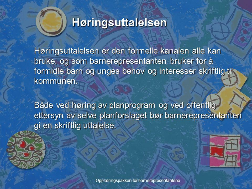 Opplæringspakken for barnerepresentantene Barnetråkk – for alle kommuner n Norsk Form, Statens Kartverk, og mange departementer, bl.a.