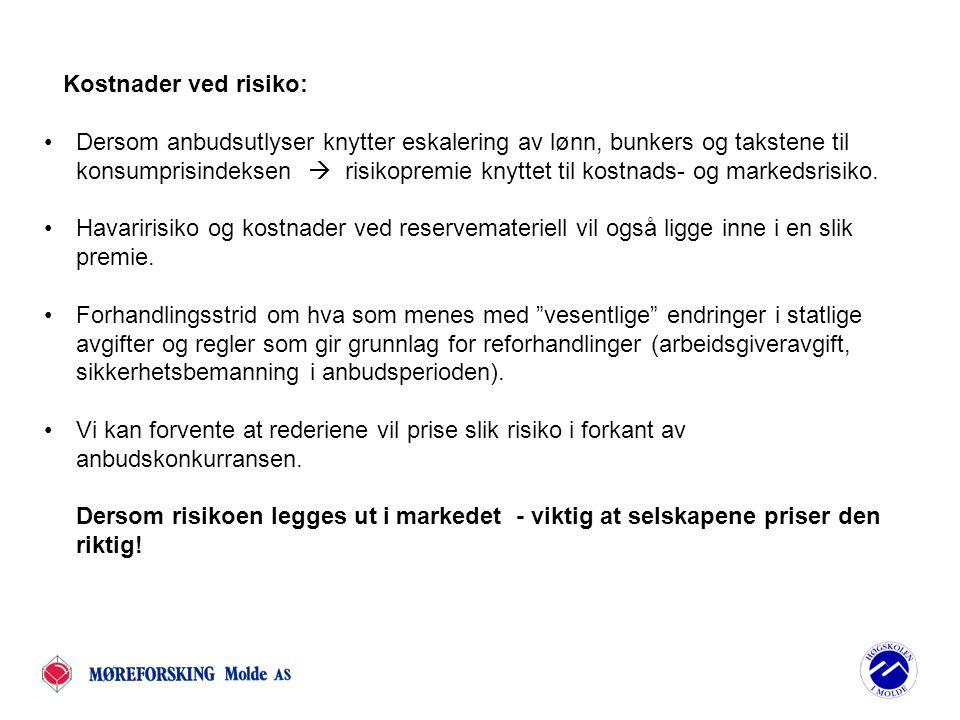 Usikkerheten om rettferdig konkurranse: Det er usikkert om utenlandske ferjerederier fra f.eks Sverige som vil inn i Norge vil nyte godt av nettolønnsordning (som offshorerederier og utenlandsferjer).