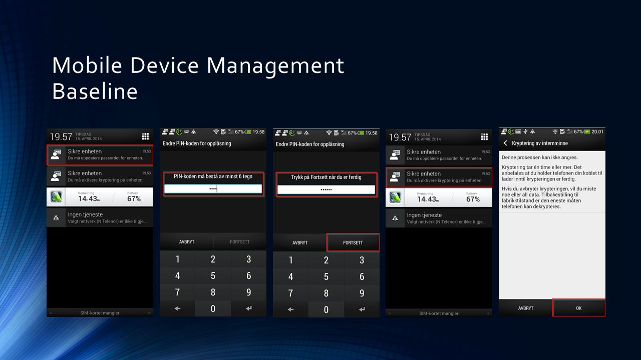 Mobile Device Management Baseline