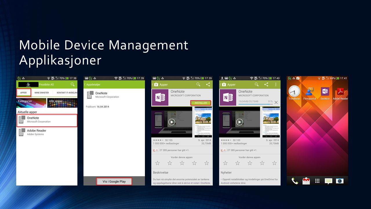 Mobile Device Management Applikasjoner