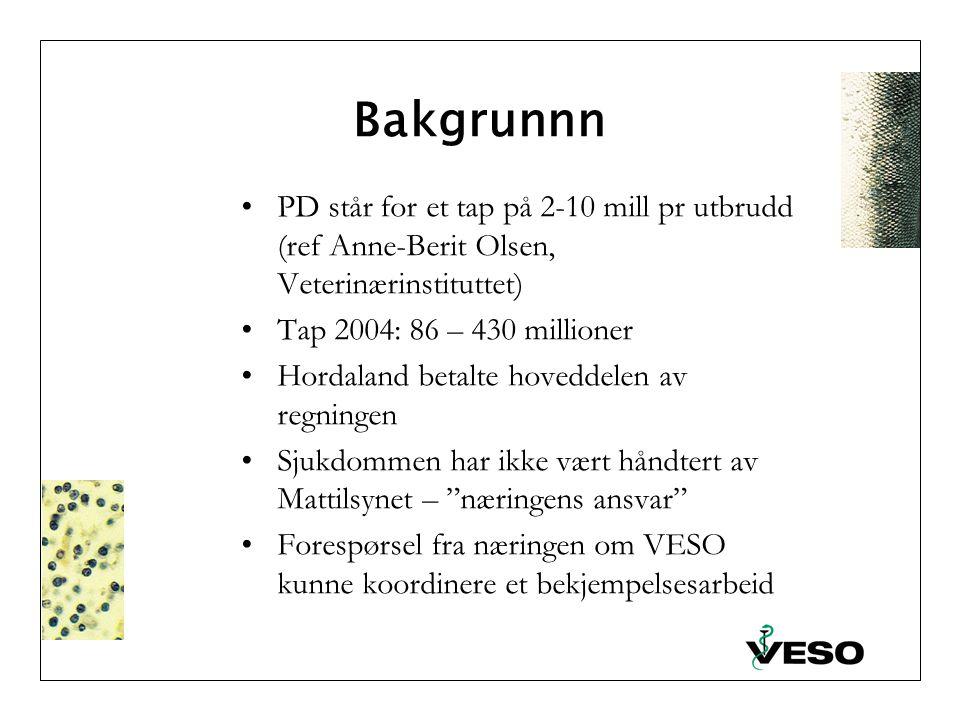 Pancreas disease (PD) – Incidens 1995 – 2006* * Pr. september 2006 av Paul Negård, Mattilsynet