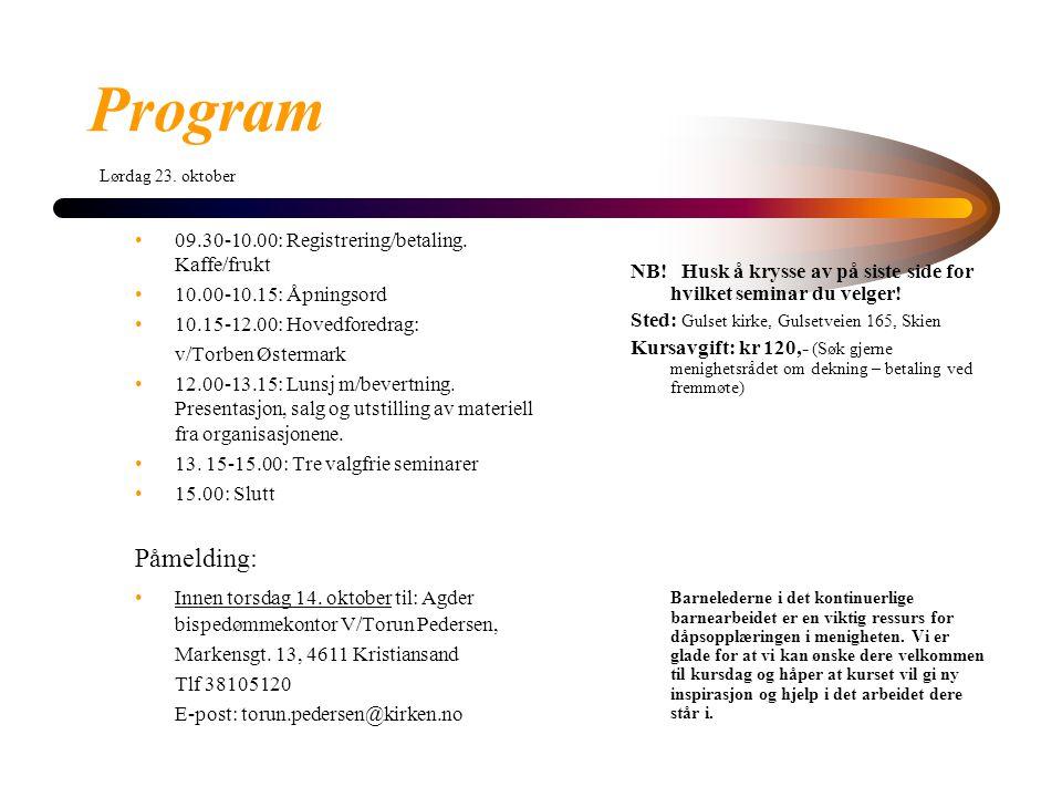 09.30-10.00: Registrering/betaling.