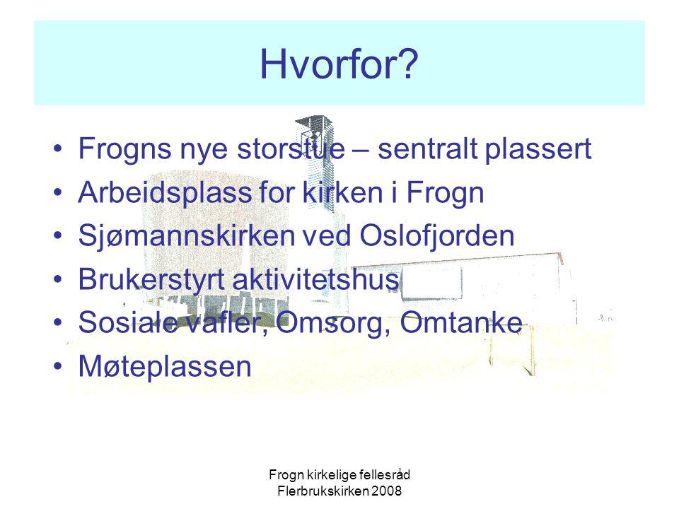 Frogn kirkelige fellesråd Flerbrukskirken 2008 Hvorfor.