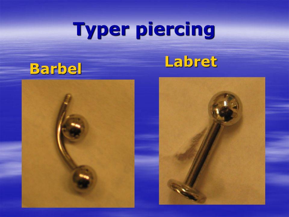 Typer piercing Barbel Labret