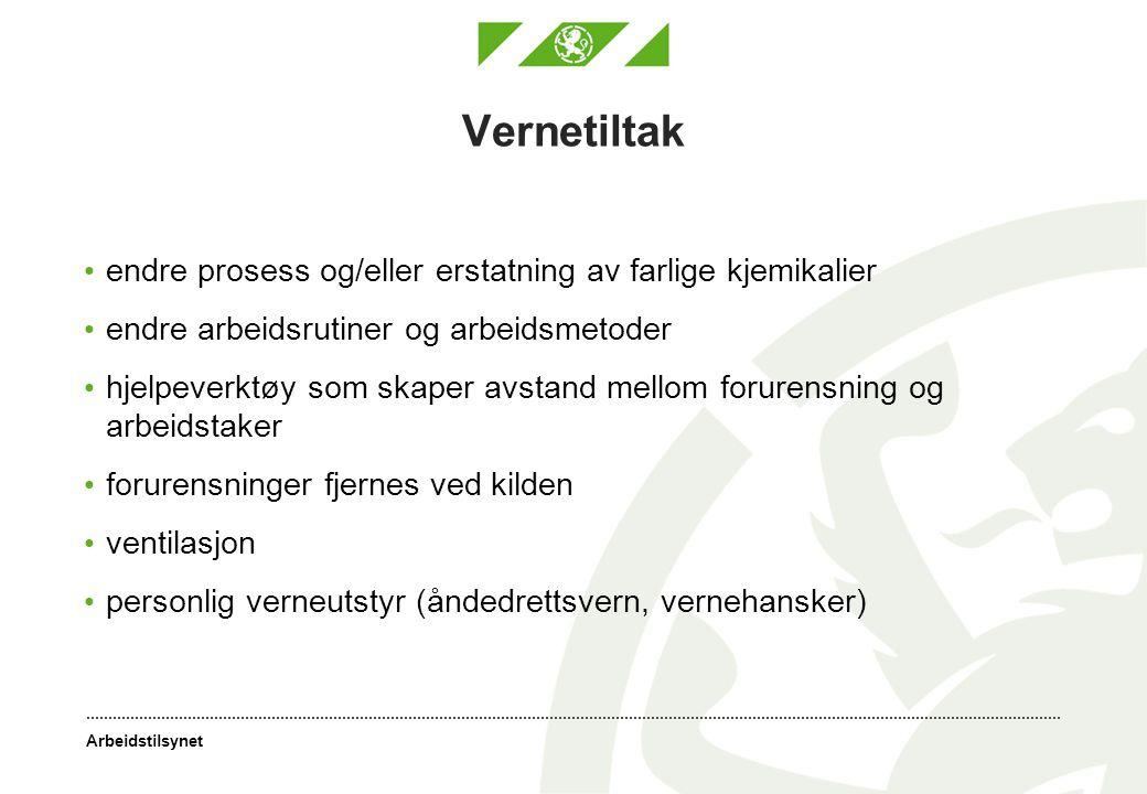 Arbeidstilsynet Kjemikalieforskriften kapittel III Måling, grenseverdier og administrative normer § 15 Måling av forurensning i arbeidsatmosfære (Bestillingsnr.