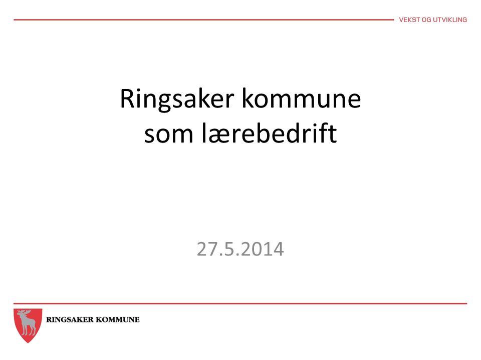 Ringsaker kommune som lærebedrift 27.5.2014
