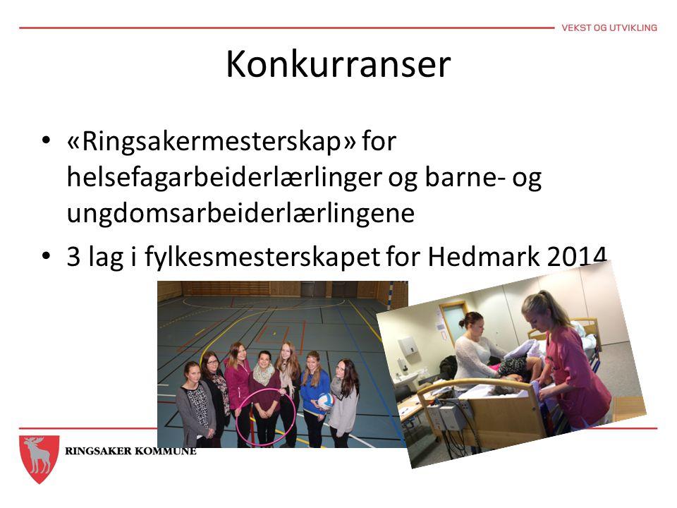 Konkurranser «Ringsakermesterskap» for helsefagarbeiderlærlinger og barne- og ungdomsarbeiderlærlingene 3 lag i fylkesmesterskapet for Hedmark 2014