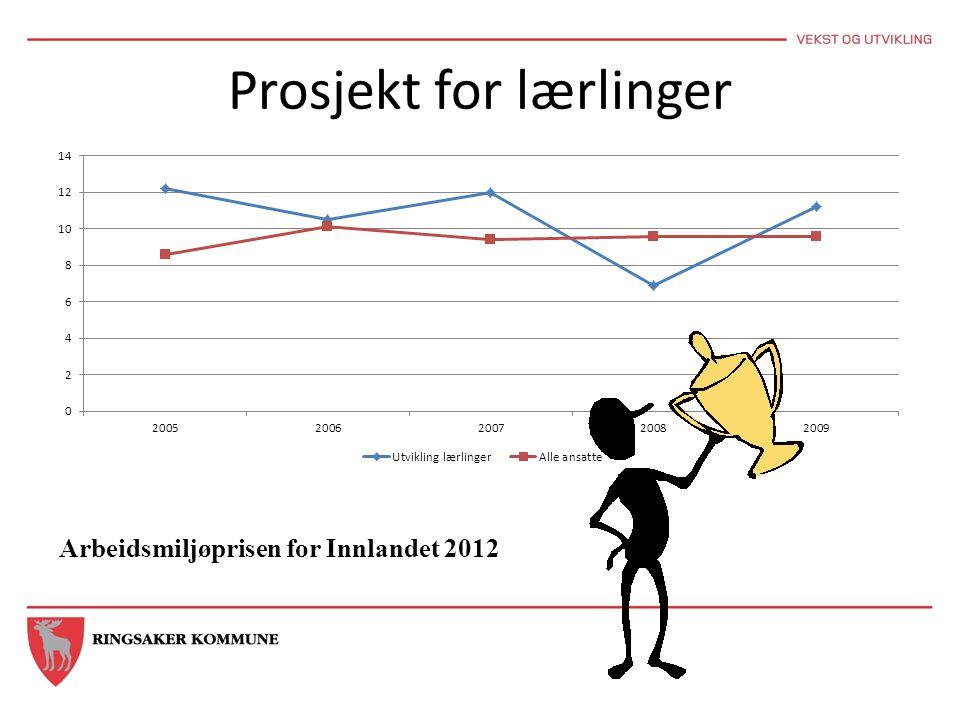 Prosjekt for lærlinger Arbeidsmiljøprisen for Innlandet 2012