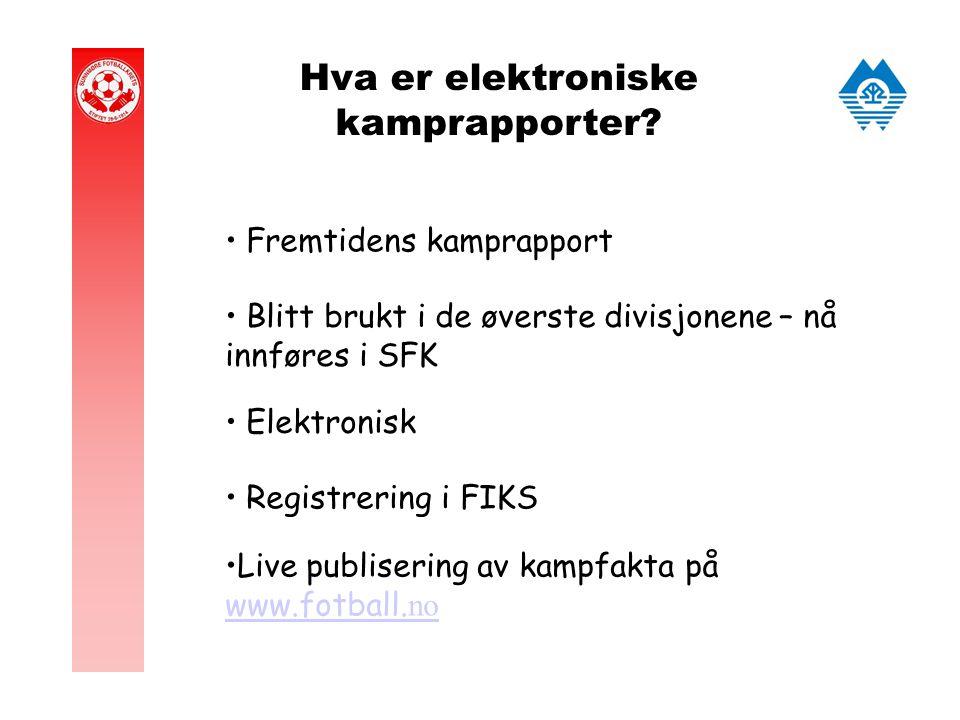 Hva er elektroniske kamprapporter.