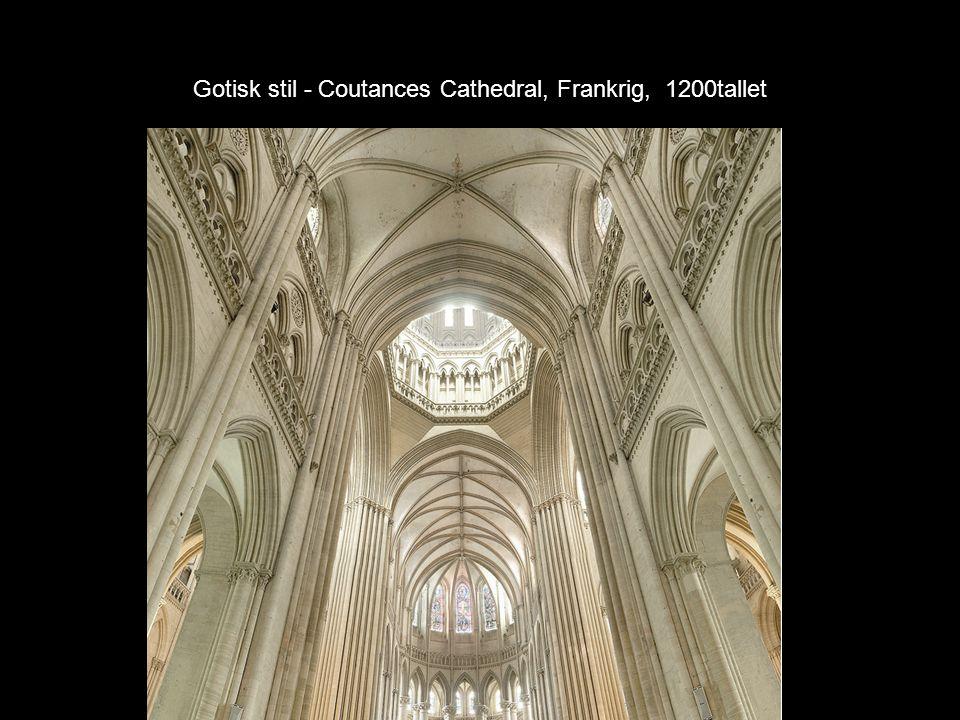 Gotisk stil - Coutances Cathedral, Frankrig, 1200tallet