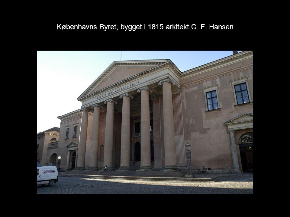 Københavns Byret, bygget i 1815 arkitekt C. F. Hansen