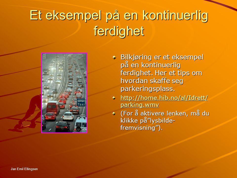 Et eksempel på en kontinuerlig ferdighet Bilkjøring er et eksempel på en kontinuerlig ferdighet. Her et tips om hvordan skaffe seg parkeringsplass. ht